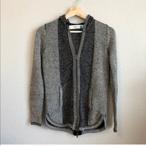 Anthro Sparrow full zip hooded sweater